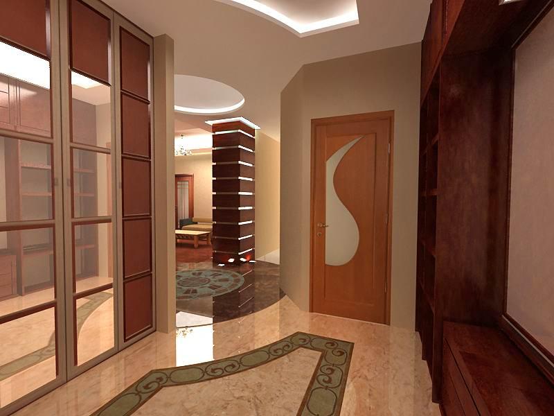 étage dans le couloir