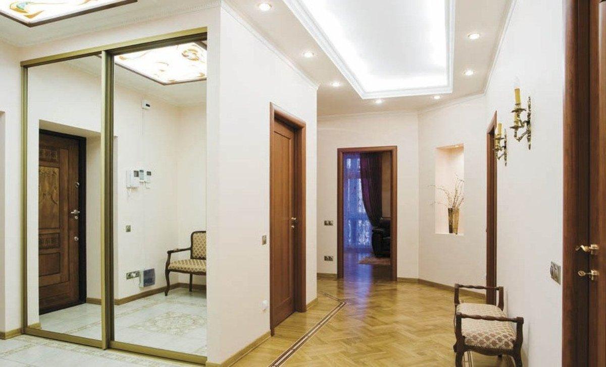 conception du sol dans le parquet du couloir