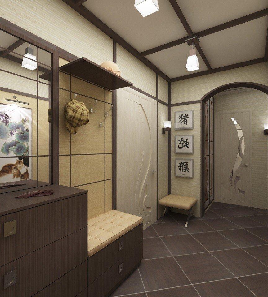 Conception de plancher de couloir de style japonais