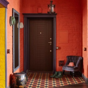 conception de plancher dans la conception de photo de couloir