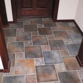 design de sol dans le couloir photo décoration