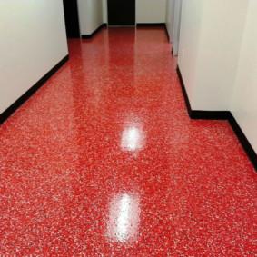 conception du sol dans le couloir