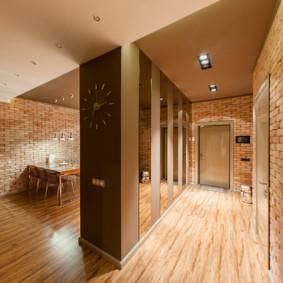 conception de plancher dans les options de photo de couloir