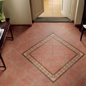 conception du sol dans le décor photo du couloir