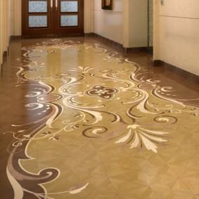 conception du sol dans le hall