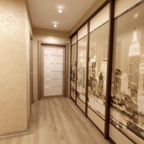 conception de sol dans les idées de décoration de couloir