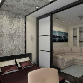 salon chambre design 16 m² design