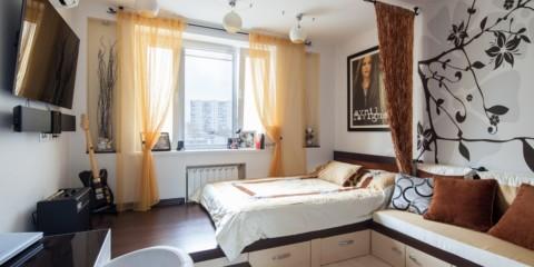 salon chambre design 16 m² design photo