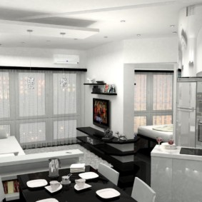 odnushki intérieur avec de hauts plafonds