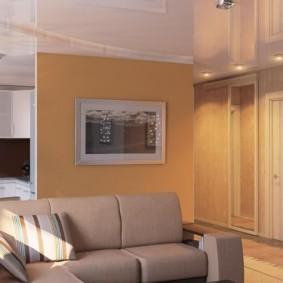 Plafond brillant dans un studio