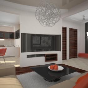 Design moderne de la cuisine-salon
