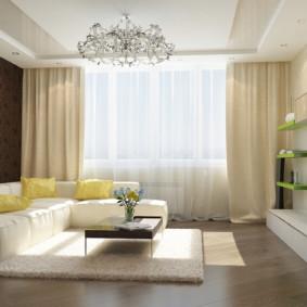 Conception de salle avec canapé d'angle