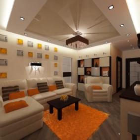 Chambre design avec plafond tendu