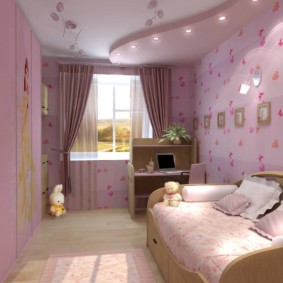Intérieur d'une chambre d'enfant pour une fille