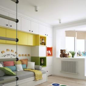 Conception d'une chambre d'enfant avec loggia