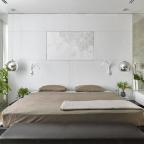 Chambre lumineuse dans le style du minimalisme