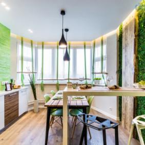 Cuisine avec baie vitrée éco-style