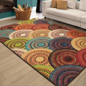 Beau tapis au sol du salon