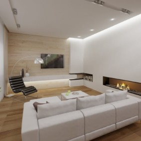 Chambre lumineuse avec un plafond blanc