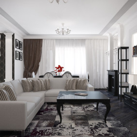 Canapé d'angle avec rembourrage léger