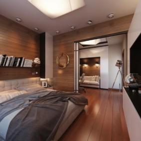 Plancher de bois brun