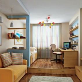 Conception de chambre d'adolescent dans un style moderne.