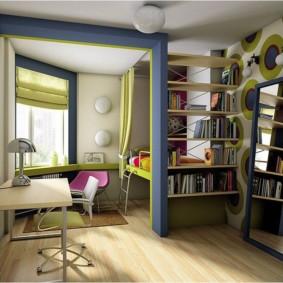 Bibliothèque dans la chambre des enfants