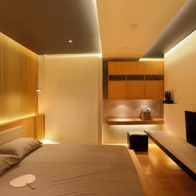 Éclairage LED à l'intérieur de la chambre