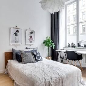 Chambre lumineuse de style scandinave
