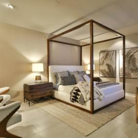 Zonage d'une chambre avec un grand tapis
