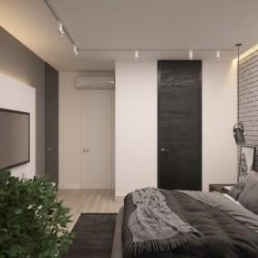 Intérieur de la chambre Loft gris