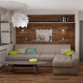 Arbre à l'intérieur d'un appartement moderne