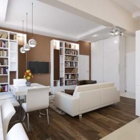 Poutre en béton au plafond de l'appartement