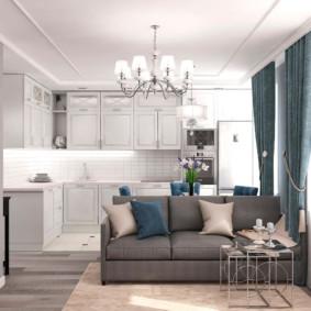 Appartement lumineux dans un style classique