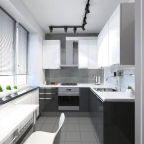 Conception de cuisine avec sol gris
