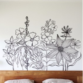 Décorer un simple mur à motifs dans la chambre