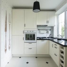 Petite cuisine d'angle carrée