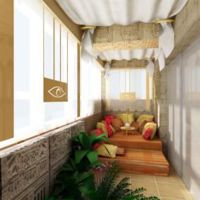 Conception de loggia de style oriental