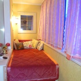 Rideaux de balcon roses