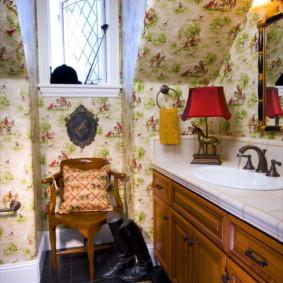 Salle de bain confortable de style provençal