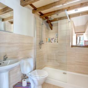 Panneaux stratifiés dans la conception de la salle de bain