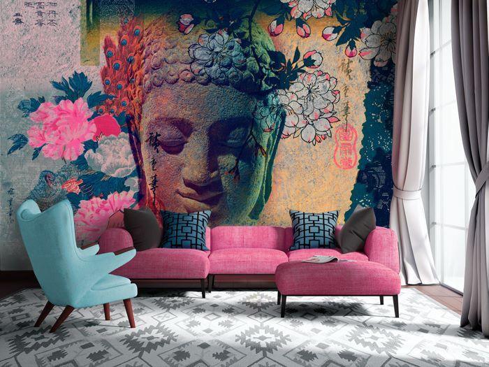 Peinture murale à faire soi-même dans le salon de l'appartement