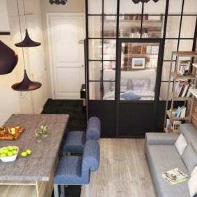 20 m² salon chambre photo intérieur