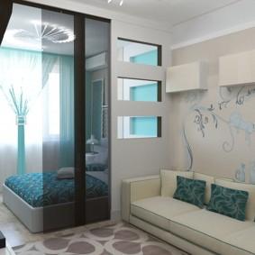salon chambre 20 m² intérieur photo