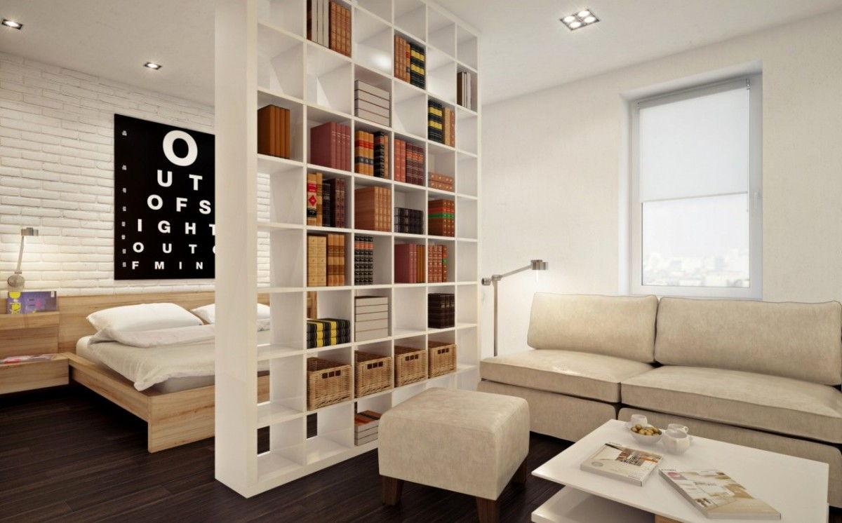 salon chambre 20 m2 intérieur