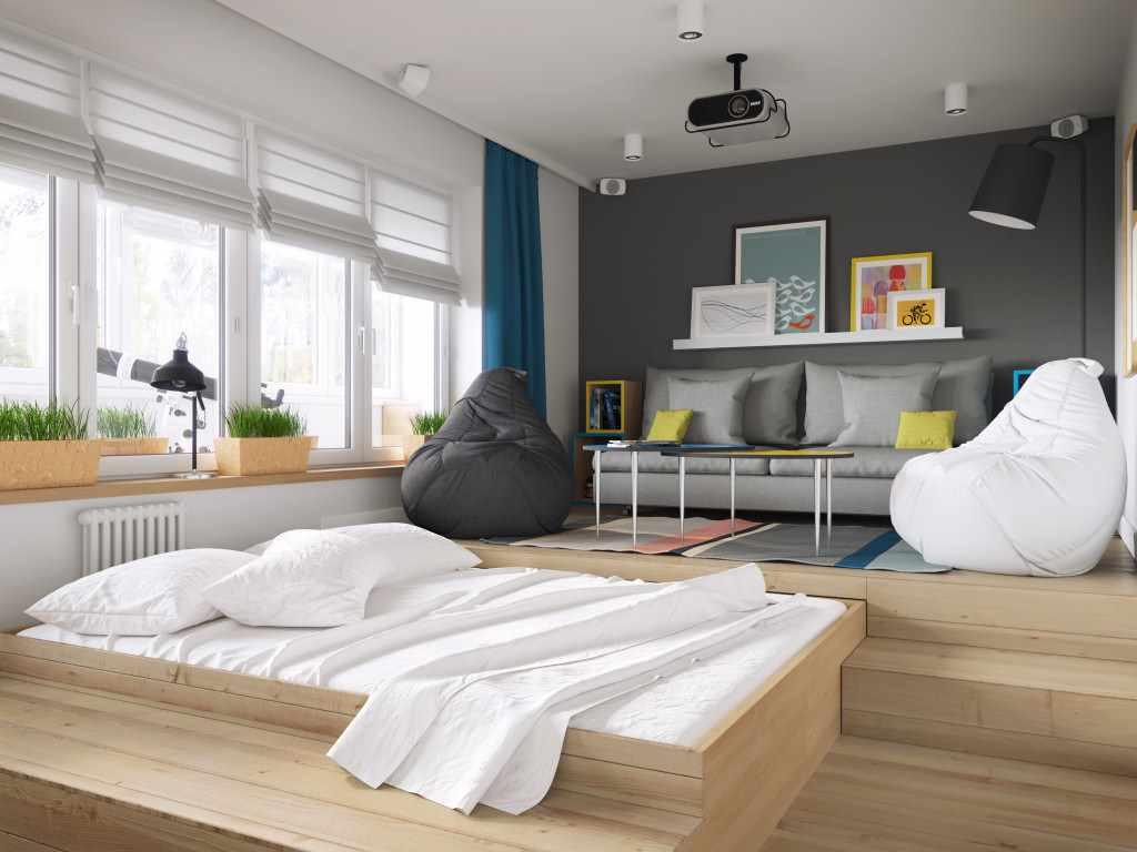 Salon 20 m² chambre