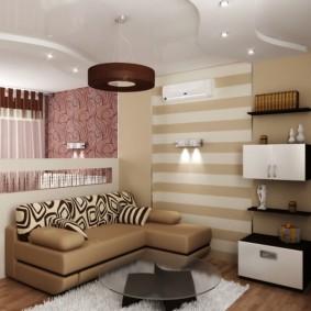 Idée de décoration intérieure chambre salon 20 m²