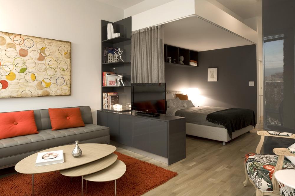 20 m² salon chambre idées intérieures