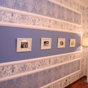 papier peint combiné dans les options de photo du couloir de l'appartement