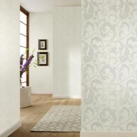 papier peint combiné dans le couloir de la photo idées appartement